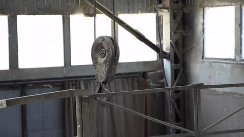 Metal hook industrial hoists Footage