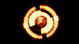 Arrow Interface Data Loader Orange Glow Circular Round with Ripples. Alpha Chann Animation