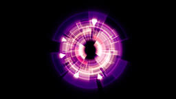 Interface Data Loader Purple Fuchsia Glow Round with Light Rays. Alpha Channel Animation