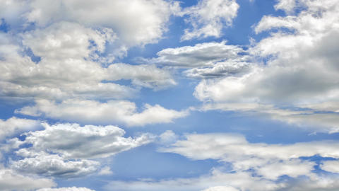 Fly through the clouds in the sky Animation