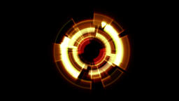 Interface Data Loader Orange Red Glow Round with Light Rays. Alpha Channel Animation