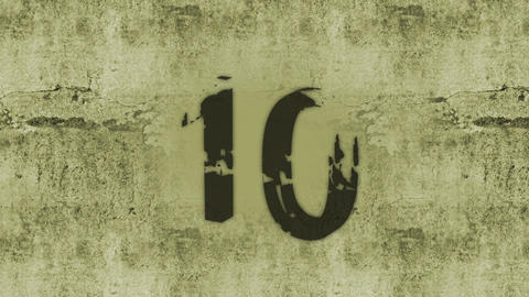 Grunge countdown Animation