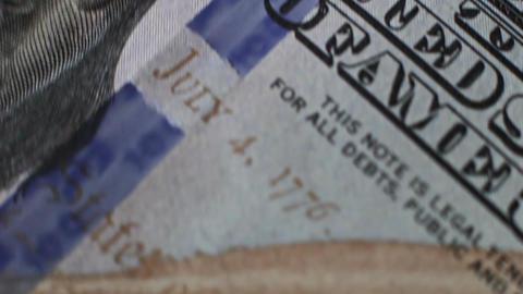 Rotating Dollars Banknotes 6 Footage