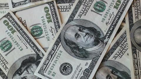 Rotating Dollars Banknotes 4 Footage