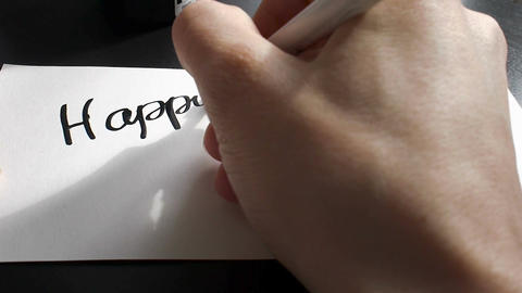 Happy Memorial day calligraphy and lettering post card. From the first-person po Footage
