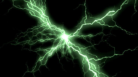 Green Lightnings Storm Animation Background Backdrop Animation