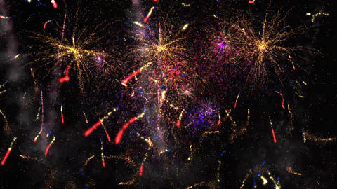 Fireworks in the Night Sky Animation Background