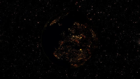 3D Planet Earth by Night from Space Background Animation Animation