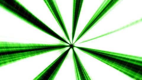 Green Illuminated 3D Tunnel Motion Background Animation
