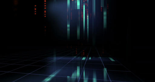 [alt video] futuristic digital code number abstract technology…