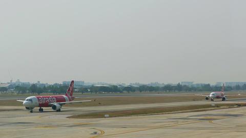 Aircraft Air Asia Airport 4k Footage