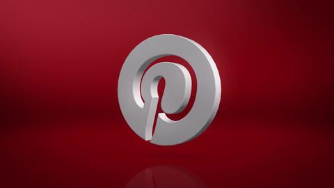 Pinterest Icon Motion Background Animation
