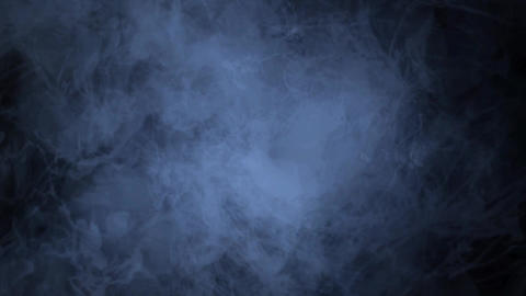 Misty Blue Fog Smoke Clouds Abstract Background Animation. Alpha Channel Animation