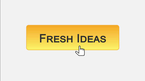 Fresh ideas web interface button clicked with mouse, different color choice Footage