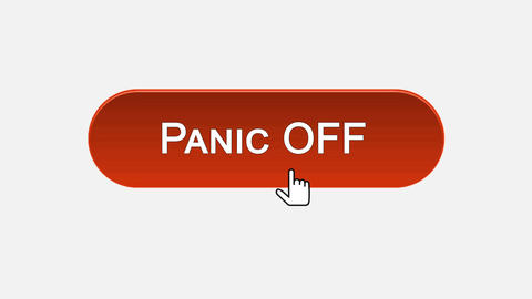 Panic off-on web interface button clicked with mouse, different color choice Live Action