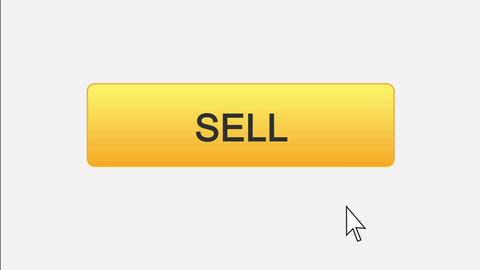 Sell web interface button clicked with mouse cursor, different color choice Live Action