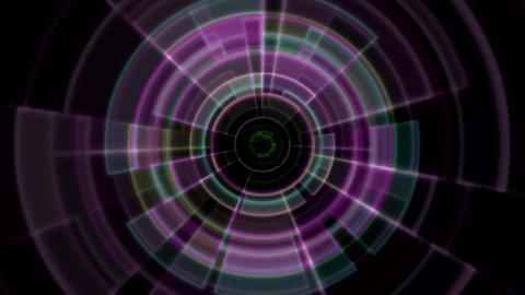 2D Tron Rainbow Hologram Tunnel Vortex Portal Animation