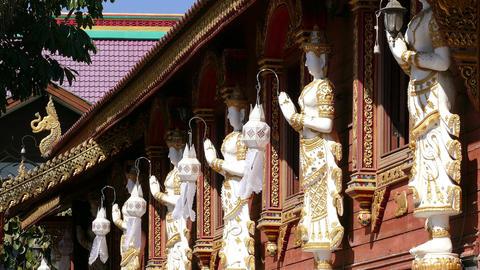 Buddhist Temple Chiang Mai 4K Footage