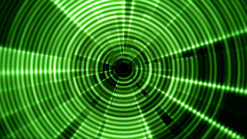 2D Round Tunnel Vortex Portal Green Color with Ripple Effect Animation