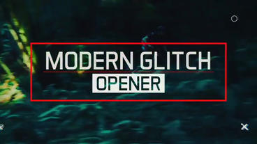 Epic Modern Glitch Opener After Effectsテンプレート