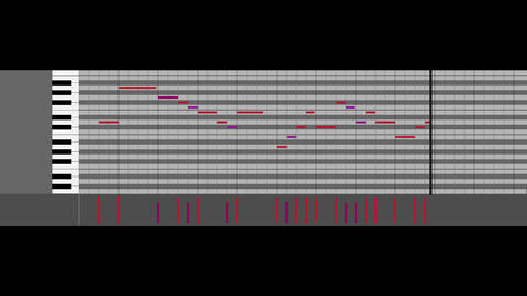 Cg piano roll black CG動画