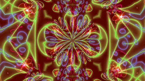 Abstract Color kaleidoscope texture animation Stock Video Footage