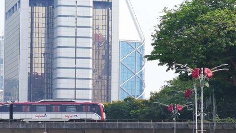 Kuala Lumpur Downtown Malaysia Train Express 4k Footage