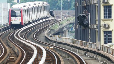 Kuala Lumpur Train 4k Footage
