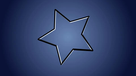 Star shape animation on blue background. Motion graphics background Animation