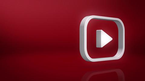 Youtube Icon Text Background Animation
