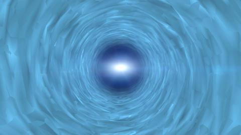 Moving through blue futuristic tunnel. fantasy concept. Motion graphics backgrou Animation