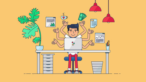 Creative Tech Workspace Animation
