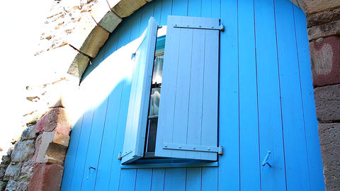 Closed Blue Shutters Image