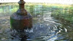 Spain Galicia City of Vigo 003 fountain and pond in a city park Footage
