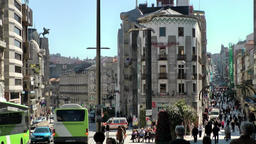 Spain Galicia City of Vigo 034 y-junction,separate ways for cars and pedestrians Footage