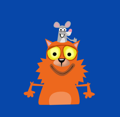 Happy Cat and Mouse Animation
