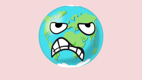 Angry earth then happy Animation