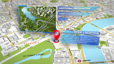 Map Location Photo Slideshow After Effects Templates