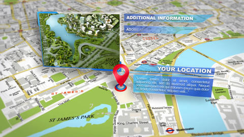 Map Location Photo Slideshow After Effects Template