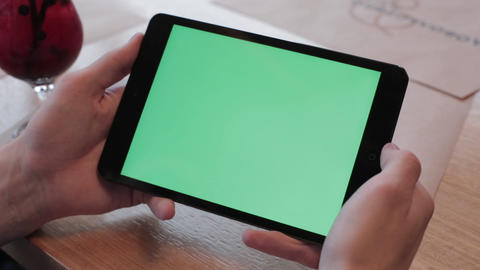 Green screen tablet Live Action
