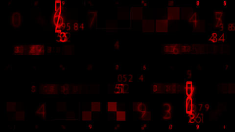 Red Numbers Random Sequence Background Animation Stock Video Footage