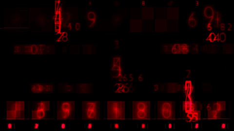 Red Numbers Random Sequence Background Animation Animation