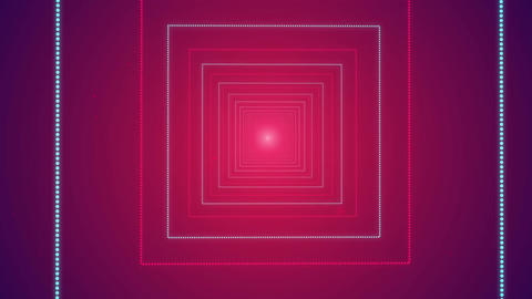 Cube Shape Seamless Looped Tunnel Zoom Romantic Background for your event, title CG動画素材