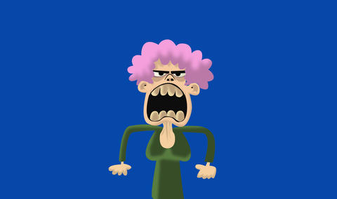 Angry Old lady Animation
