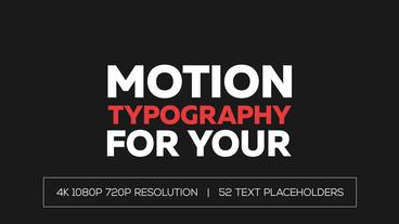 Modern Typography Template After Effect