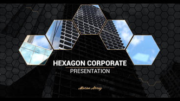 Hexagon corporate presentation After Effects Project