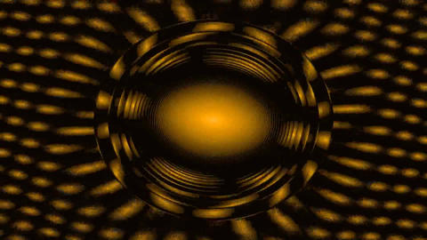 Gold circles in rotate - Full HD Footage Animation