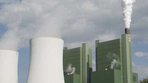 Industrial Cooling Tower Smoke Stack Long Footage