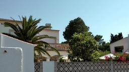 Spain Mallorca Island Cala Blava 033 corner of a spanish finca Footage