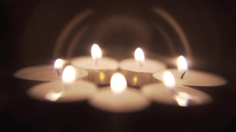 Artistic Candle Background Footage